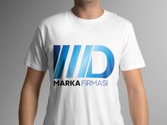 M D Logo T-shirt Tasarımı