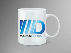 M D Logo Mug Tasarımı