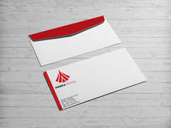 A Harfi Logo Tasarımı Zarf Tasarımı