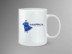 Super adam logo Mug Tasarımı