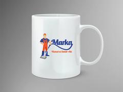 Maskot Logo Mug Tasarımı