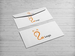 Kedi Logo Zarf Tasarımı