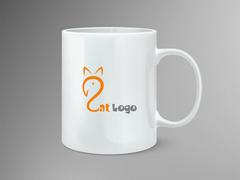 Kedi Logo Mug Tasarımı