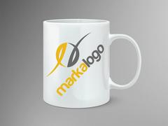 E Logo Mug Tasarımı