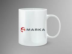 Küre İçindeki S harfi Logo Mug Tasarımı