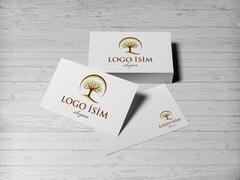 Logo Ağaç Kartvizit Tasarımı