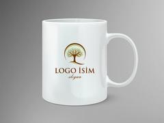 Logo Ağaç Mug Tasarımı