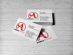 A Harfli Marka Logosu Kartvizit Tasarımı
