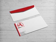A Harfli Marka Logosu Zarf Tasarımı