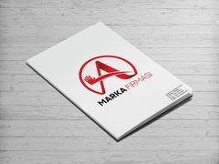 A Harfli Marka Logosu Dosya Tasarımı