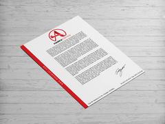 A Harfli Marka Logosu Antentli K. Tasarımı