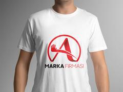 A Harfli Marka Logosu T-shirt Tasarımı