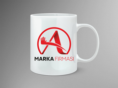 A Harfli Marka Logosu Mug Tasarımı