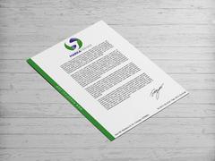 S Harfli Marka Firması Logo Antentli K. Tasarımı