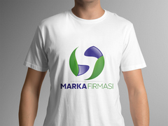 S Harfli Marka Firması Logo T-shirt Tasarımı