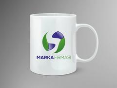 S Harfli Marka Firması Logo Mug Tasarımı