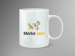 Arı ve İp Logo Mug Tasarımı