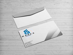 E ve G Harfli  Logo Zarf Tasarımı