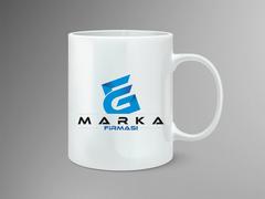 E ve G Harfli  Logo Mug Tasarımı