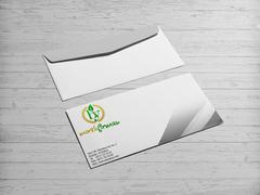 B ve Y Harfli Yapraklı Marka Logosu Zarf Tasarımı