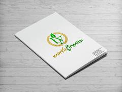 B ve Y Harfli Yapraklı Marka Logosu Dosya Tasarımı