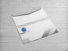 E ve G Harfli Marka Firması Logo Zarf Tasarımı