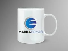 E ve G Harfli Marka Firması Logo Mug Tasarımı