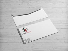B ve K Harfi Logo Zarf Tasarımı
