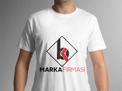 B ve K Harfi Logo T-shirt Tasarımı