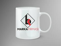 B ve K Harfi Logo Mug Tasarımı