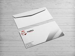 P Harfli Logo Zarf Tasarımı