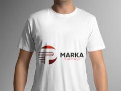P Harfli Logo T-shirt Tasarımı
