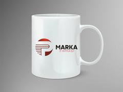 P Harfli Logo Mug Tasarımı