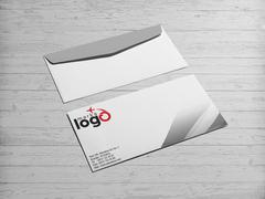 Uçaklı Marka Firması Logo Zarf Tasarımı