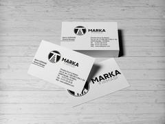 T ve A Harfli Logo Kartvizit Tasarımı