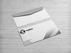 T ve A Harfli Logo Zarf Tasarımı