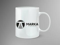 T ve A Harfli Logo Mug Tasarımı