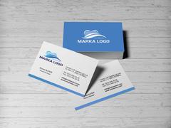 Mavi Logo Kartvizit Tasarımı