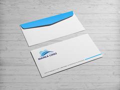 Mavi Logo Zarf Tasarımı