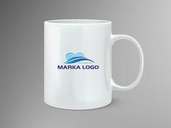 Mavi Logo Mug Tasarımı