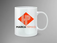 H ve P Logo Mug Tasarımı