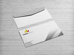 Yapraklar Logo Zarf Tasarımı