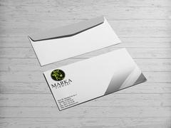 Elma Marka Logo Zarf Tasarımı