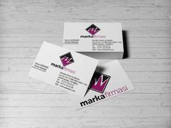 M Harfli Logo Kartvizit Tasarımı