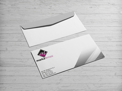 M Harfli Logo Zarf Tasarımı