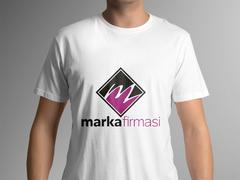 M Harfli Logo T-shirt Tasarımı