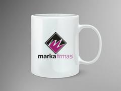 M Harfli Logo Mug Tasarımı