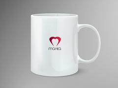 Kalp Logo Mug Tasarımı