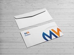 M ve W logo Zarf Tasarımı