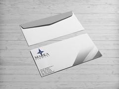 Pusula Logo Zarf Tasarımı